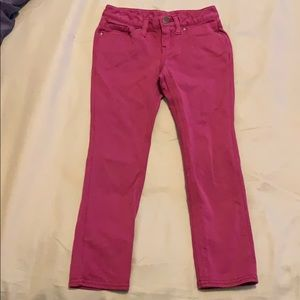 Girls magenta pants Size small by GapKids